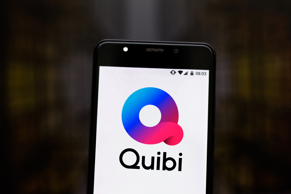 Shutterstock_1453902488 July 17, 2019, Brazil. In this photo illustration the Quibi logo is displayed on a smartphone.