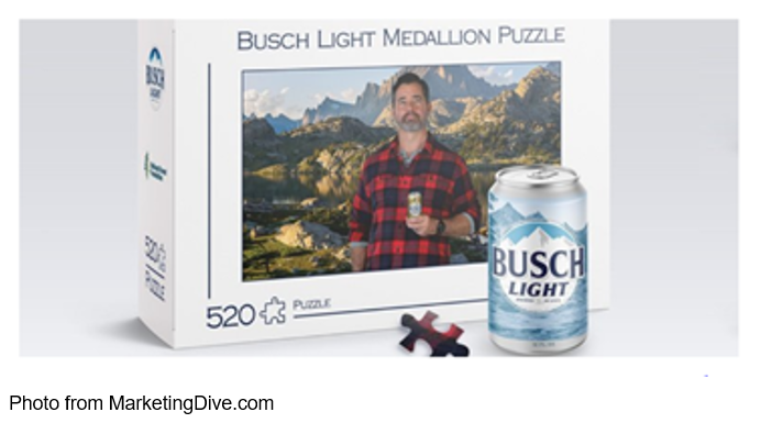Busch Light medallion puzzle