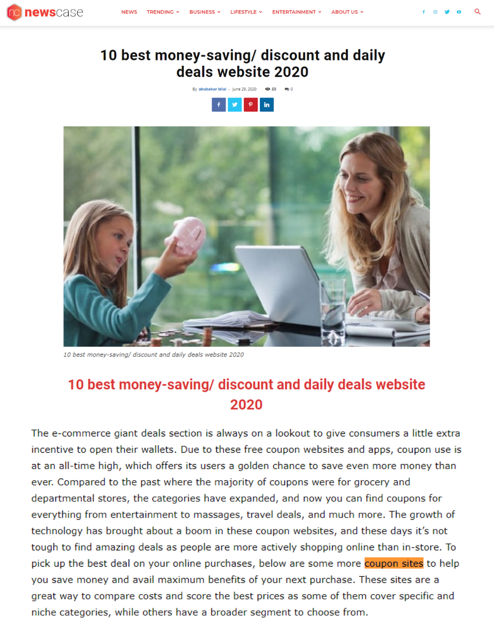 https://www.newscase.com/best-money-saving-discount-and-daily-deals-website-2020/