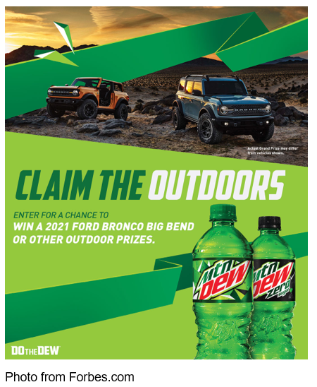 mountain dew claim the outdoors