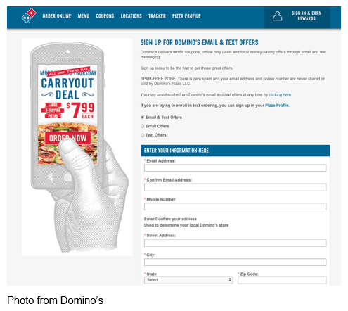 domino's carryout deal