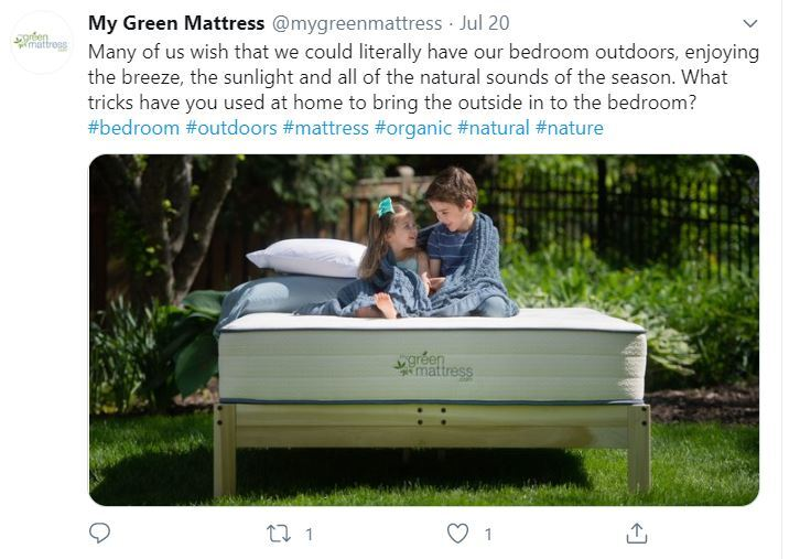 my green mattress tweet