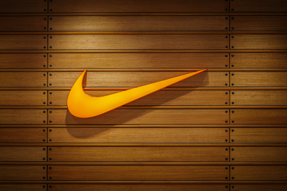 Royalty-free stock photo ID: 531095017 Nakhonratchasrima,Thailand, Dec 07, 2016: Nike logo. Nike is a global sports clothes and running shoes retailer. Nike stores are located all over the world