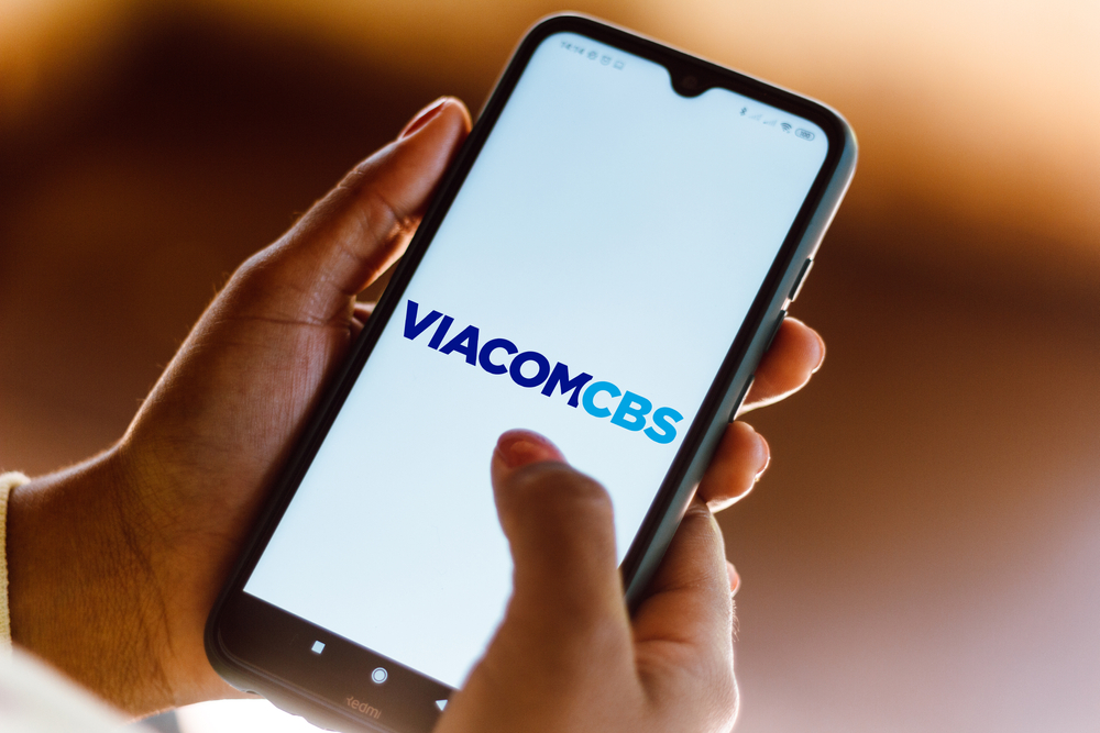 Shutterstock_1769508809  July 4, 2020, Brazil. In this photo illustration the ViacomCBS logo seen displayed on a smartphone