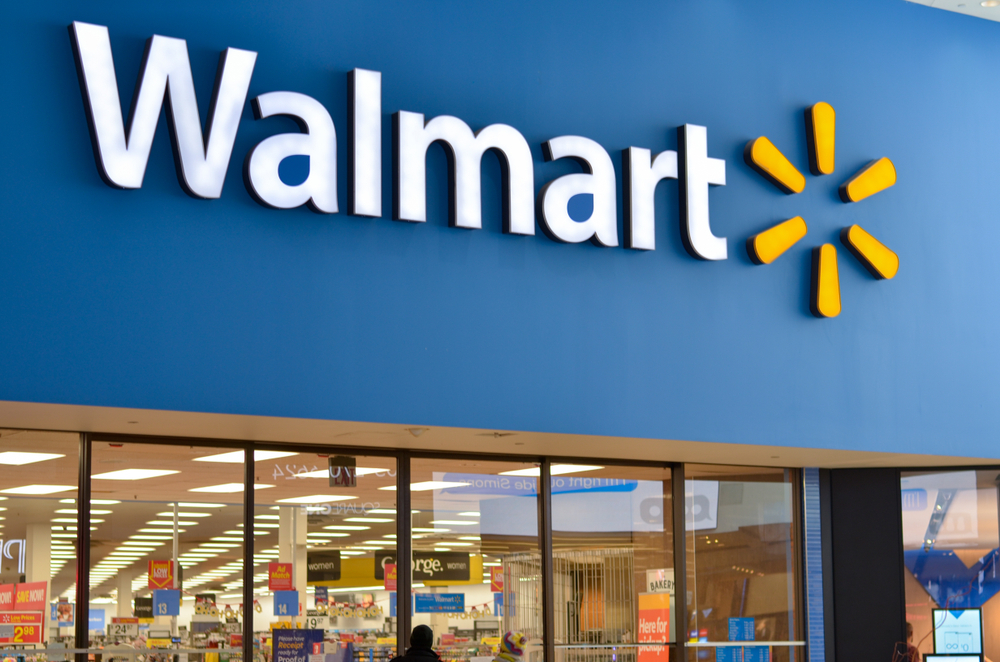 Shutterstock_1619936182 Toronto, Canada : 2020 Walmart storefront. Walmart Inc. is American retail corporation operates hypermarkets, discount department and grocery stores. Fortune 500 company, also largest employer in USA