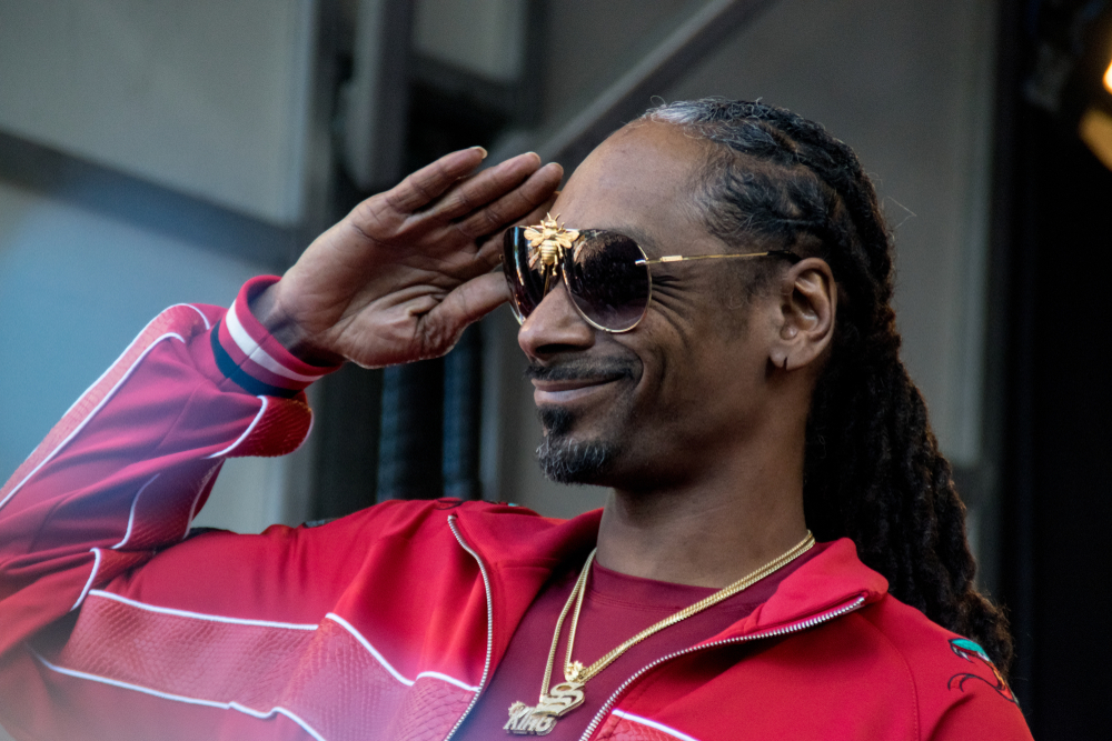 Shutterstock_1102574936 NAPA, CA - MAY 26, 2018: Snoop Dogg, Warren G. and Michael Voltaggio at BottleRock Napa Valley in Napa, CA
