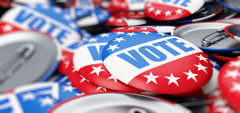Shutterstock_763683007 vote election on a white background 3D illustration, 3D rendering