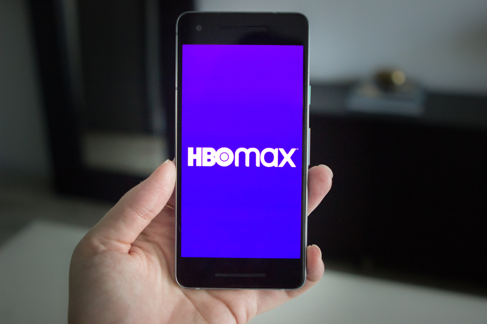 Shutterstock_1754907236 Los Angles, CA / USA - June 12, 2020: Hand holding a smartphone with the HBO Max app displayed