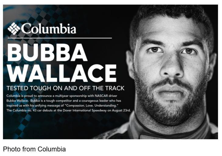 "Columbia NASCAR Darrell ""Bubba"" Wallace Jr."