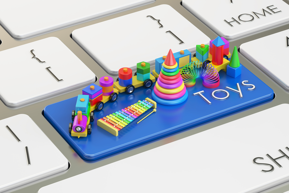 Shutterstock_515653261 Toys keyboard button, 3D rendering