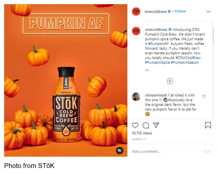 STōK Launches #PumpkinAF Campaign