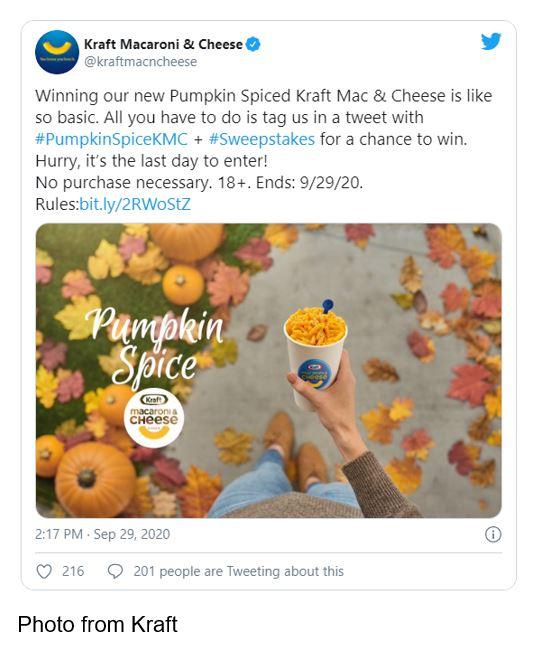 kraft pumpkin spice KMC