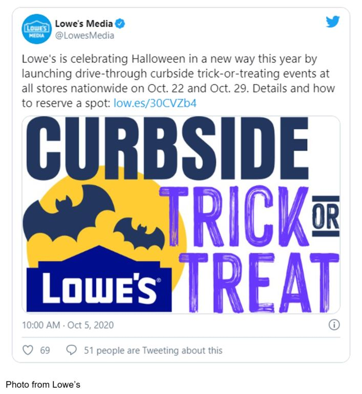 lowe's trick or treating halloween