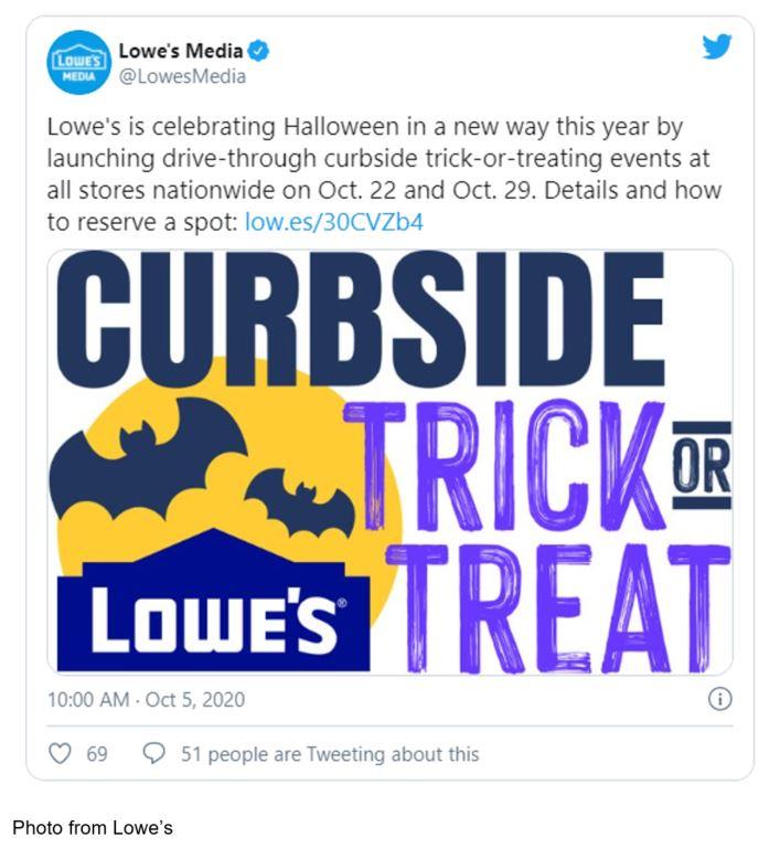 lowe's trick or treating halloween