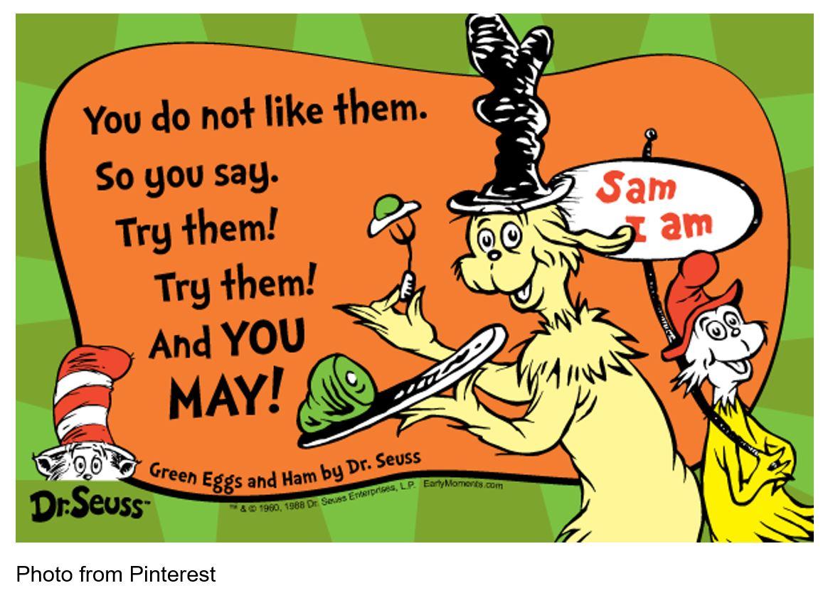 Dr Seuss Pinterest Green Eggs & Ham