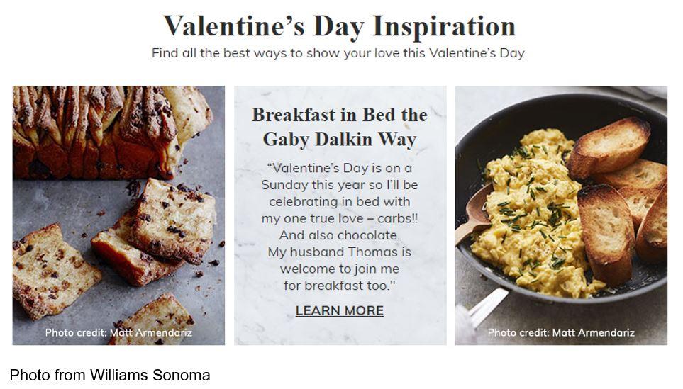 Williams Sonoma valentines day