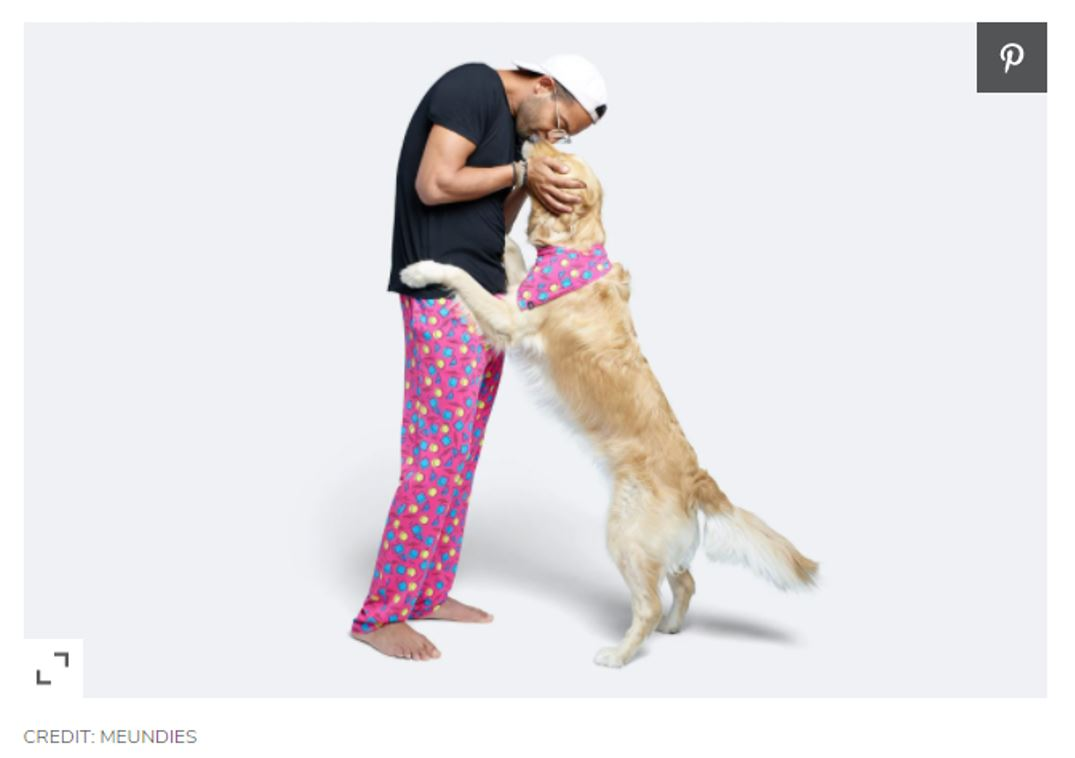 MeUndies with dog