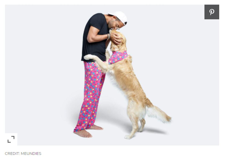 MeUndies with dog