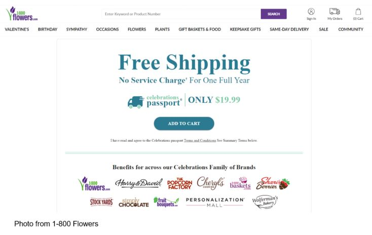 1-800 Flowers loyalty programs