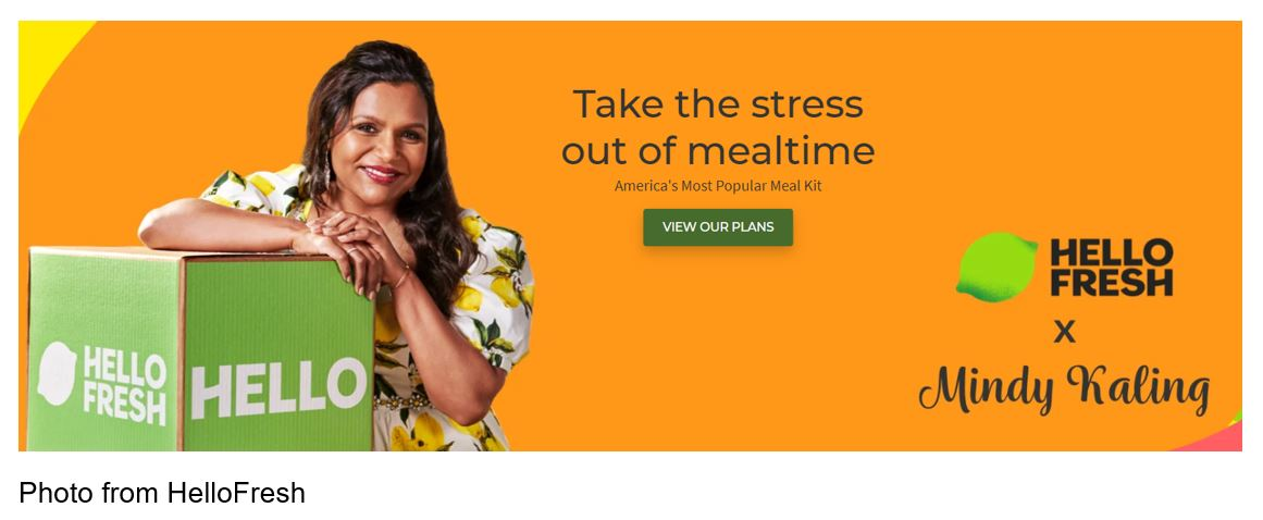 hellofresh Mindy Kaling