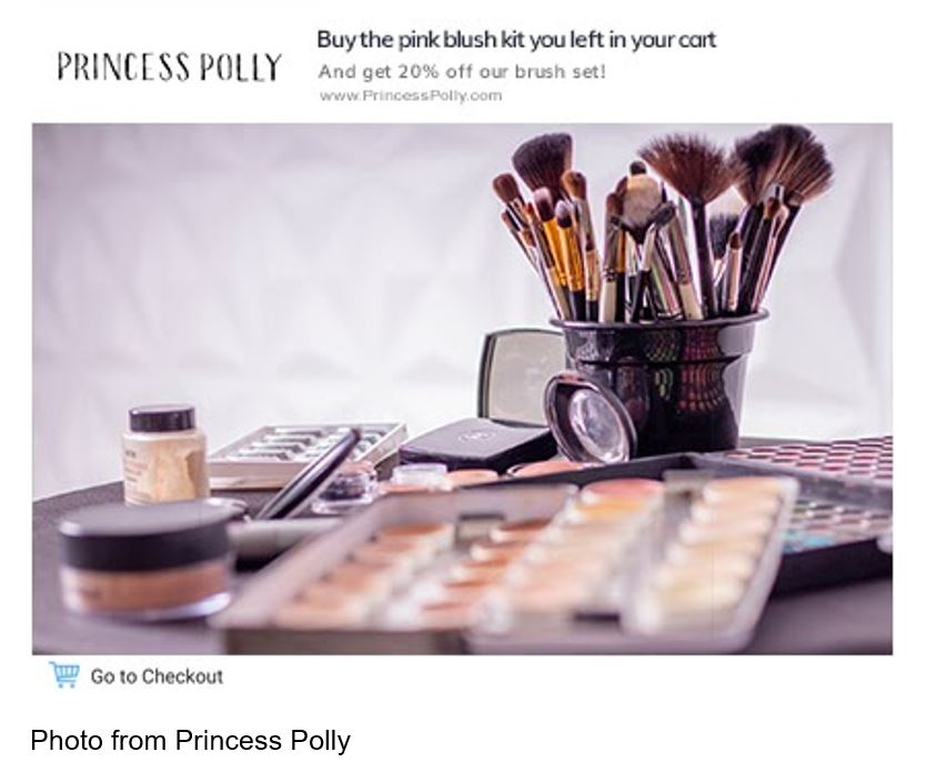 princess polly makeup ad