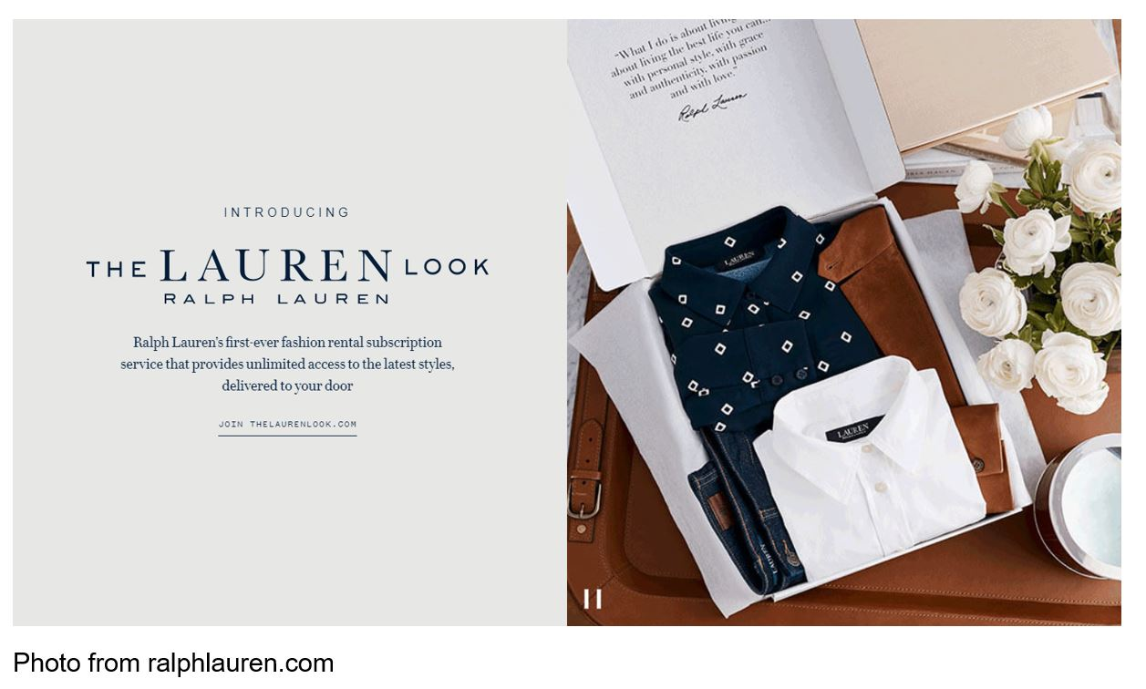 Ralph Lauren's 'Lauren Look' Rental Subscription