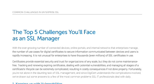 你会面临的五大挑战作为SSL经理
