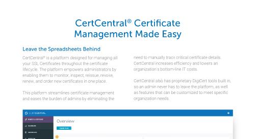 CertCentral证williamhill中国书管理简单