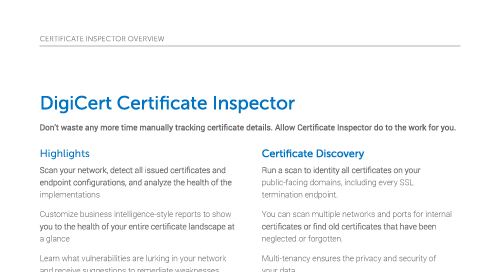 Certificate Inspector Overview