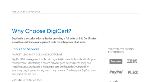 Why Choose DigiCert?