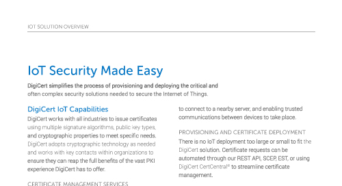 IoT Security Made Easy