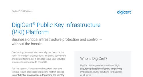 DigiCert PKI Platform