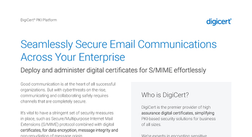 Managed PKI Secure Email