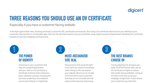 Three Reasons To Use An OV Certificate