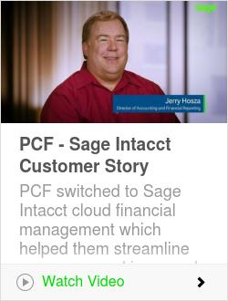 PCF - Sage Intacct Customer Story