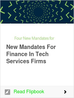 New Mandates For Finance In Tech Services Firms