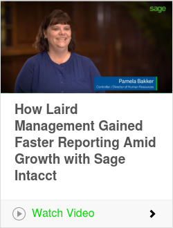 How Laird Management Gained Faster Reporting Amid Growth with Sage Intacct