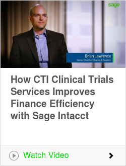 How CTI Clinical Trials Services Improves Finance Efficiency with Sage Intacct