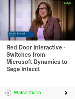 Red Door Interactive - Switches from Microsoft Dynamics to Sage Intacct