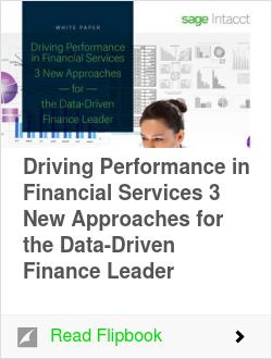 Driving Performance in Financial Services 3 New Approaches for the Data-Driven Finance Leader