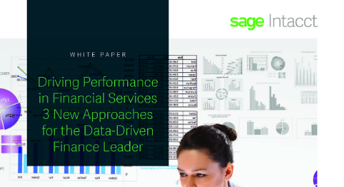 Driving Performance in Financial Services - 3 New Approaches for the Data-Driven Finance Leader