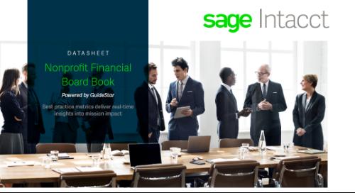 Nonprofit GuideStar Financial Board Book