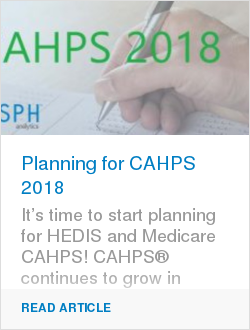 Planning for CAHPS 2018