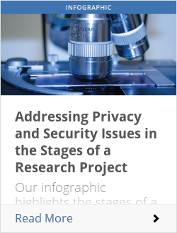 Addressing Privacy and Security Issues in the Stages of a Research Project