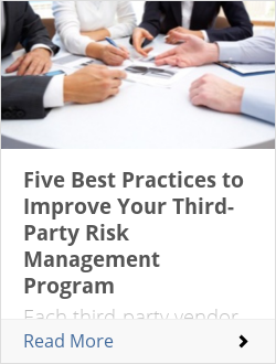 Five Best Practices to Improve Your Third-Party Risk Management Program