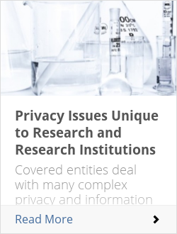 Privacy Issues Unique to Research and Research Institutions