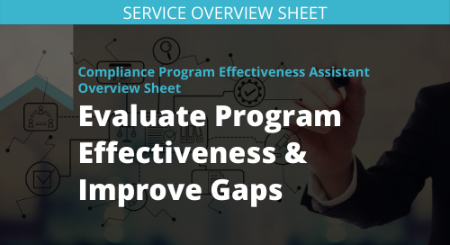 Compliance Program Effectiveness Assessment