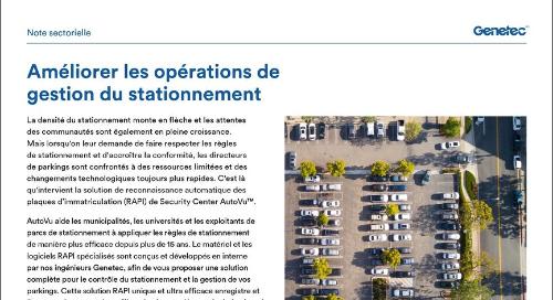 Améliorer les opérations de  gestion du stationnement