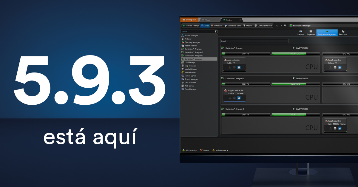 Security Center 5.9.3 ya está aquí