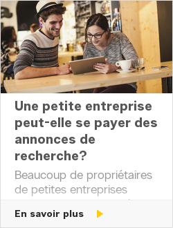 Une petite entreprise peut-elle se payer des annonces de recherche?